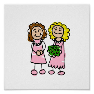 Two Pink Brides Posters