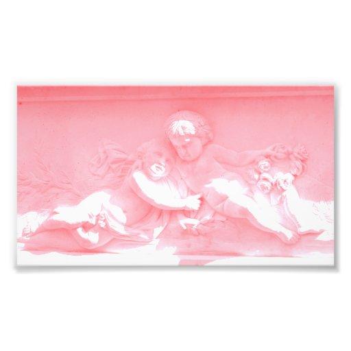 Two Pink Cherub Photo Art