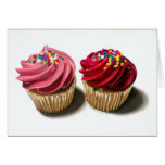 Two Pink Cupcakes Cards