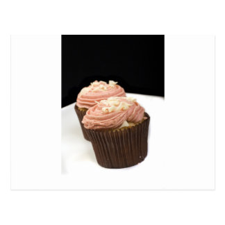 two pink cupcakes postcard
