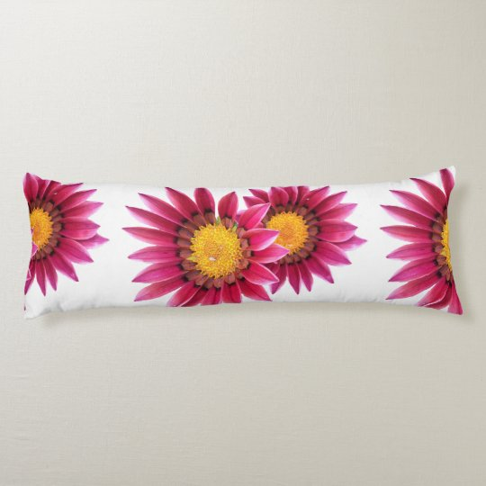 two pink flowers long pillow
