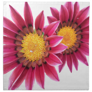 two pink flowers napkin