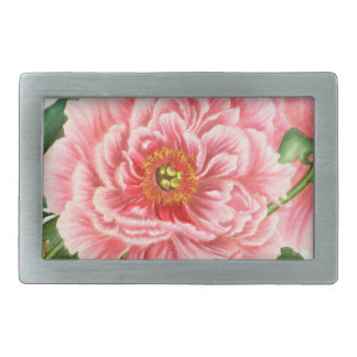 Two Pink Peonies Belt Buckle