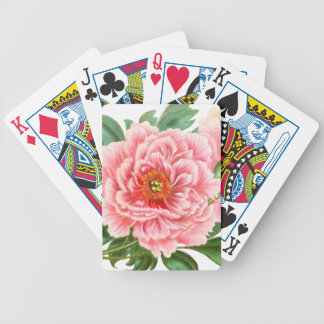 Two Pink Peonies Bicycle Playing Cards