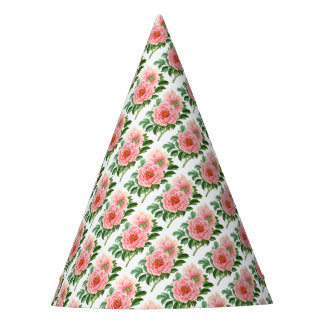 Two Pink Peonies Party Hat