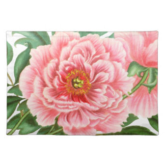 Two Pink Peonies Placemat