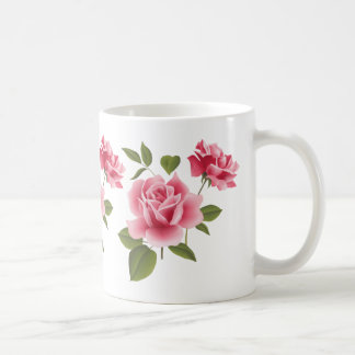 Two Pink Roses Coffee Mug
