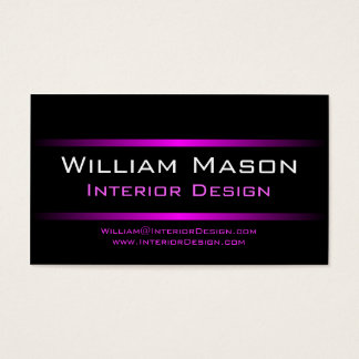 Two Pink Stripes Professional Business Card