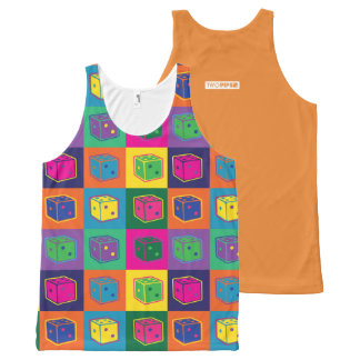 Two Pips Pop Art Unisex Tank