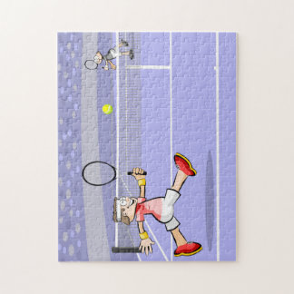 Two players of tennis jigsaw puzzle
