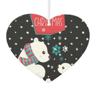 Two Polar Bears Merry Christmas Car Air Freshener