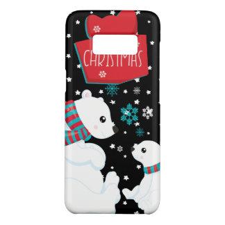 Two Polar Bears Merry Christmas Case-Mate Samsung Galaxy S8 Case