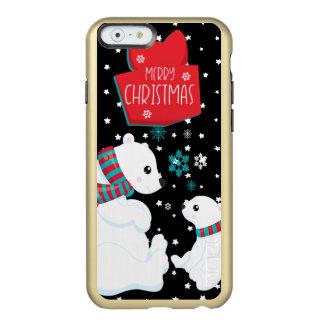 Two Polar Bears Merry Christmas Incipio Feather® Shine iPhone 6 Case