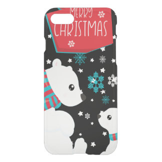 Two Polar Bears Merry Christmas iPhone 8/7 Case