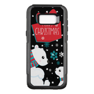 Two Polar Bears Merry Christmas OtterBox Commuter Samsung Galaxy S8+ Case