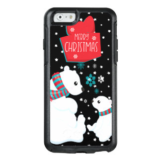Two Polar Bears Merry Christmas OtterBox iPhone 6/6s Case