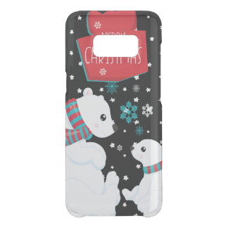 Two Polar Bears Merry Christmas Uncommon Samsung Galaxy S8 Case