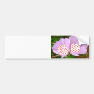 Two Poppies Frames for Two Photos Bumper Sticker
