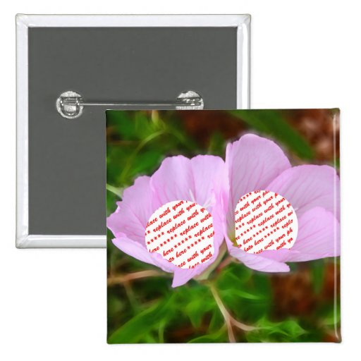 Two Poppies Frames for Two Photos Pinback Button