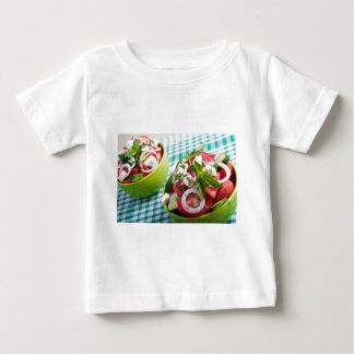 Two portions of useful vegetarian meal closeup baby T-Shirt