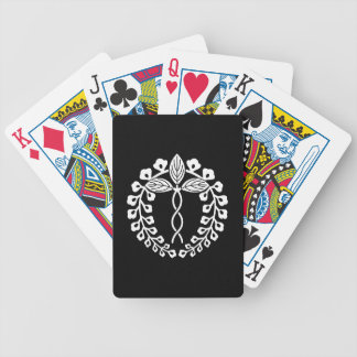 Two provision rattan bicycle playing cards