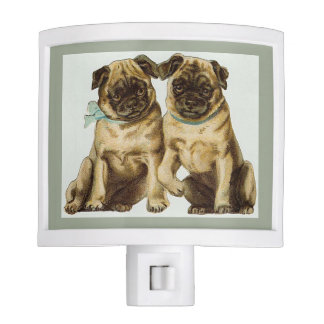 Two Pugs Night Light