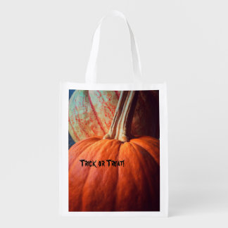 Two pumpkins reusable grocery bag