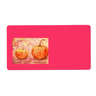 two pumpkins shipping label