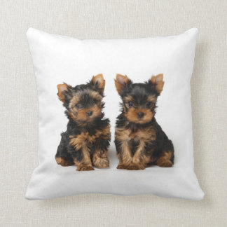 Two puppies throw pillow