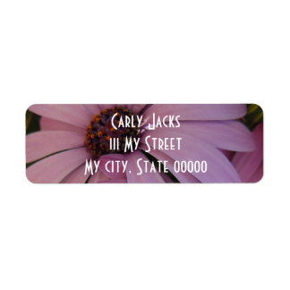 Two Purple Daisies Return Address Label