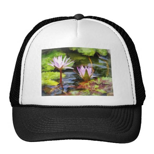 Two Purple Water Lotus Hats