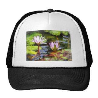Two Purple Water Lotus Trucker Hat