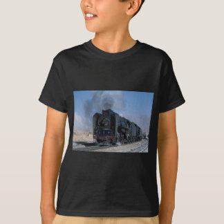 Two QJ's on freight to Hexipu, northwest China T-Shirt