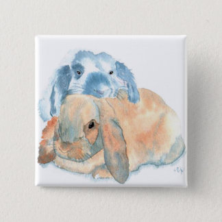 Two Rabbits Buttons