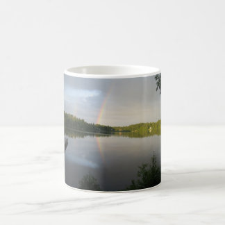 Two Rainbows over pristine lake Mug