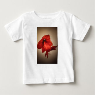 Two red amaryllis flowers baby T-Shirt