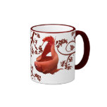 Two Red Bettas Coffee Mugs