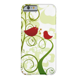Two red birds in a tree iPhone 6s cell phone case