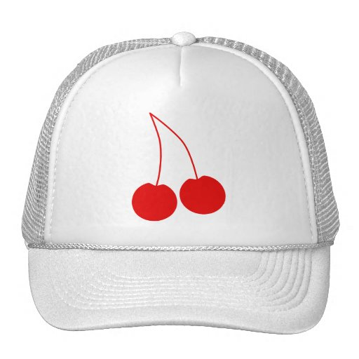 Two Red Cherries. Hats