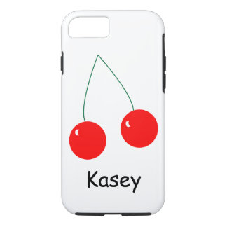 Two Red Cherries Personalize iPhone 7 Case