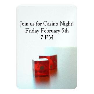 Two Red Dice Invitation