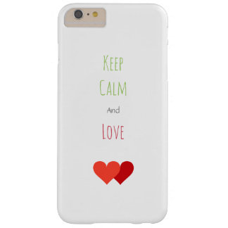 Two Red Hearts Barely There iPhone 6 Plus Case