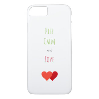 Two Red Hearts iPhone 8/7 Case