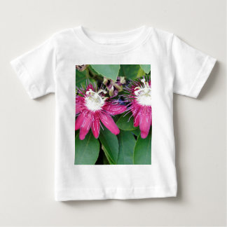 Two Red Passion Flowers Closeup Outdoors in Nature Baby T-Shirt