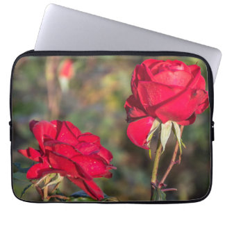 Two red roses laptop sleeve
