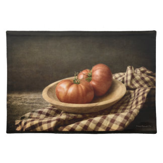 Two Red Tomatoes in a Bowl Placemat