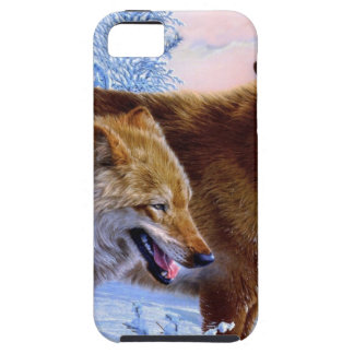 Two red wolves painting iPhone 5 cover