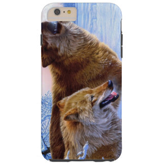 Two red wolves painting tough iPhone 6 plus case