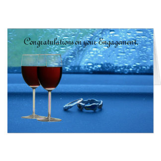 Two rings Engagement Card. Card