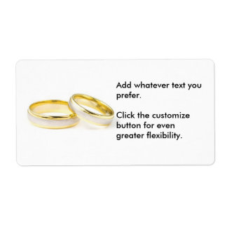 Two Rings Wedding Sticker